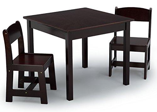 Tables Kids Furniture Childrens Desk - Delta Children MySize Table & 2 Chairs Set, Dark Chocolate
