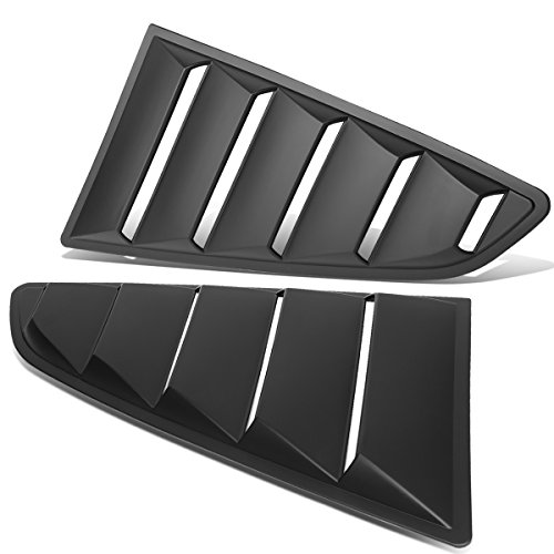 For Ford Mustang Coupe 2Pcs Vintage Style Rear Quarter Side Window Louver Sun Shade - Mustang Rear Window Ford Louver