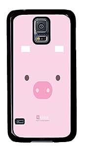 Samsung S5 case wholesale cases Cute Pig Cartoons PC Black Custom Samsung Galaxy S5 Case Cover