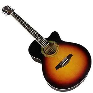KJUHVBF Guitarra de 40 \, ángulo de balada, Picea, Mate, Duro y ...