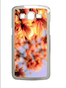 cool covers magnolia flowers blurred PC Transparent case/cover for Samsung Galaxy Grand 2/7106