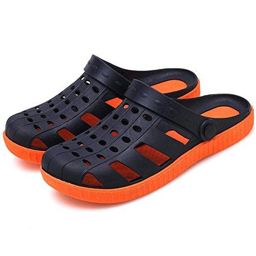 COOLCPET Men Classic Clogs Slip On Summer Sandals Blue 50QxGReJP