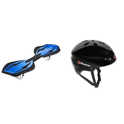 Razor RipStik Ripster (Blue) w/ Razor V-17 Youth Multi-Sport Helmet