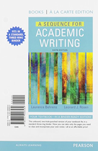 A Sequence for Academic Writing, Books a la Carte Plus MyLab Writing with Pearson eText -- Access Card Package (6th Edition)