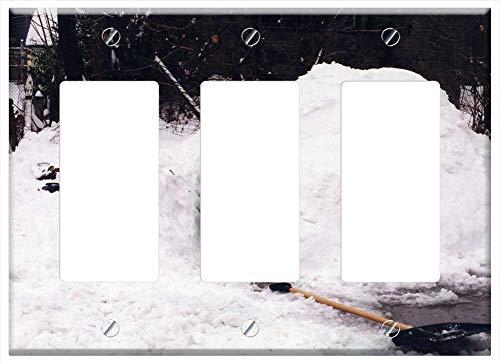 Switch Plate Triple Rocker/GFCI - Igloo Snow Fort Frozen Winter Season Ice Cold -  Tree26, Wall-TR-KL1CQ7KD8NKS