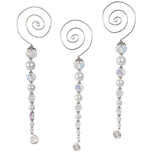 Solid Oak SOL04739 Vintage Icicles Ornament Kit, Silver and Pearl