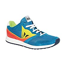 Dainese Paddock Mens Shoes Sky Blue/Fluo Red 46 Euro/12.5 USA