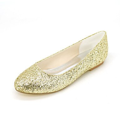 EU40 Gold UK7 Women'S Flat CN41 Glitter Flats Sliver Casual US9 Evening Wedding Heel Summer amp;Amp; Spring Black Party Fall f1fa7