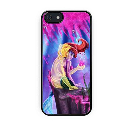 Cooliphone4Cases.com-2562-Ariel Little Mermaid With Eric Shadow iPhone 5s Case, iPhone 5 Case-B01LXYA0IH-T Shirt Design