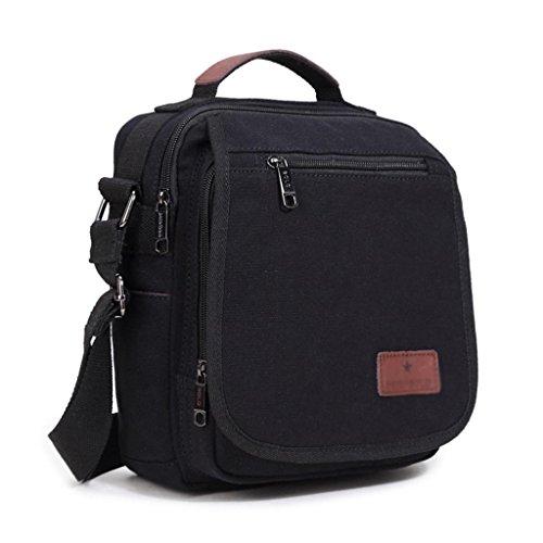 ZCJB Casual Männer Tasche Paket Männlichen Leinwand Diagonal Paket Handtasche Mode Tasche Schultasche Umhängetaschen ( Farbe : Blau ) Schwarz