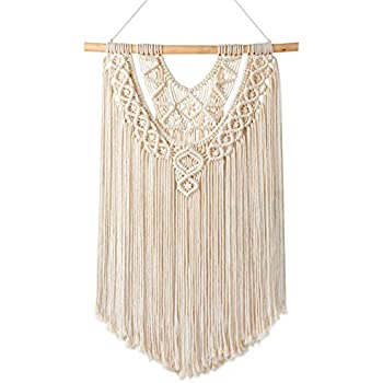 Mkono Macrame Wall Hanging Decor Boho Chic Bohemian Woven Home Decoration for Apartment Bedroom Living Room Gallery, 17