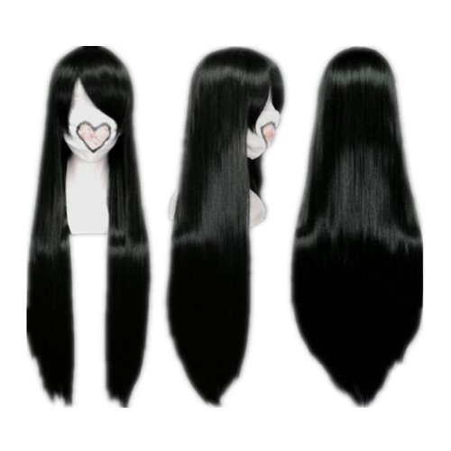 COSPLAZA Cosplay Wigs Scarlet Straight Long Red Anime Hair Heat Resistant Synthetic Wig (Black)