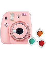 Câmera Instantânea Fujifilm Instax Mini 9 Rosa Chiclé com 3 Filtros Coloridos, Rosa Chiclé