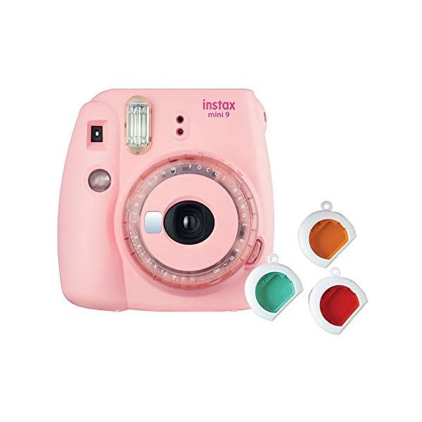 RetinaPix Fujifilm Instax Mini 9 Instant Camera (Clear Pink)