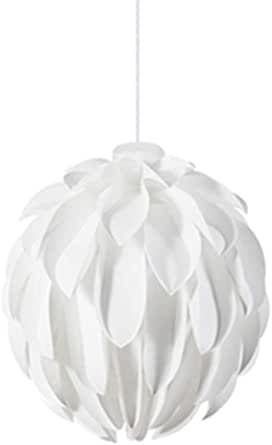 Nordic Chandelier Personality Modern Minimalist Light Luxury Warm Living Room Bedroom Chandelier (Color : White)