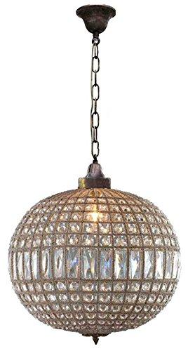 Egypt gift shops Bronze Antique Replica Brass French Empire Crystal Ceiling Lamp Globe Ball Orbit Basket Chandelier