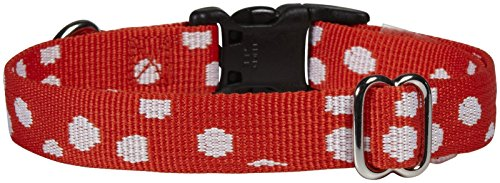 Waggo Speck-tacular Collar - Red - Large - 19-26 inch x 1 inch