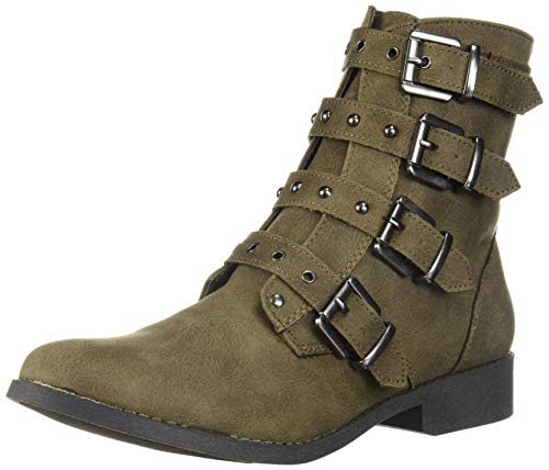 Fergalicious Women's March Ankle Boot, Olive, 8 M US