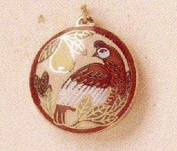 Hallmark Cloisonne Partridge Precious Edition Miniature 1995 Keepsake Ornament