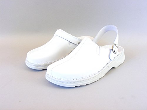 Stuppy Herren Schuhe Pantoletten/Clogs Leder weiß 8799 Fersenriemen umklappbar