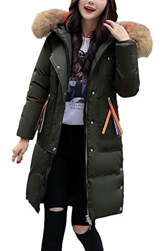 Femmes Fille Manteaux Doudounes Veste Haute Capuchon Manches Plus Produit Armygreen Épaissir Mode Veste Qualité De Chaud Fourrure Outwear Vestiaire Avec De D'hiver Longs Élégant frUrxXnd
