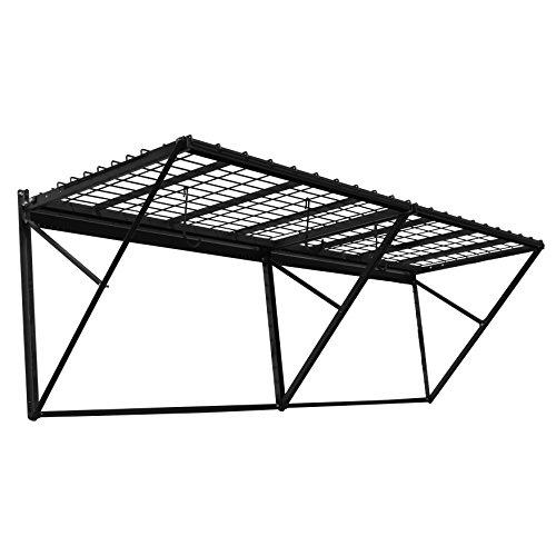 Proslat 60008 ProRack Heavy Duty Wall Mount Metal Storage Shelf with 8' Section, Charcoal Granite - 8' Wall Mount