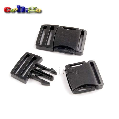 Buckes - 100pcs Pack 1'' Webbing Detach Buckle for Outdoor Sports Bags Students Bags Luggage #FLC372-25