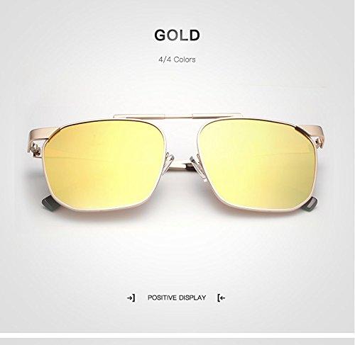 Vendimia la Gold de de Masculinas de de Marca Sol clásica Sol Diseñador la de Sol Gafas Gafas Gafas Gafas de polarizadas de Gafas Viaje Gafas UV Hombres De JCH piloto qx0CB5q