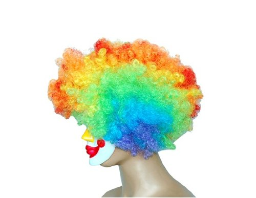 2010 New Style Halloween Party Cosplay Mask with Multicolor Curl Hair Wig