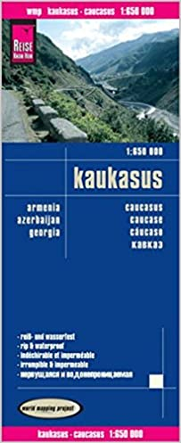 Cáucaso, mapa impermeable de carreteras. Escala 1:650.000 ...