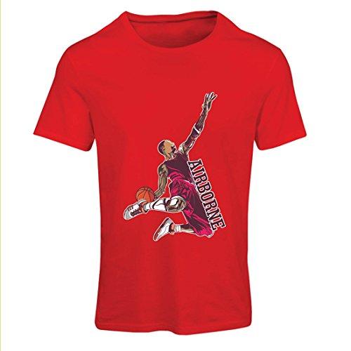 Camiseta Mujer Sé el señor de la Gravedad, Baloncesto Freestyle Dunk - Me Encanta Este Juego (X-Large Rojo Multicolor)