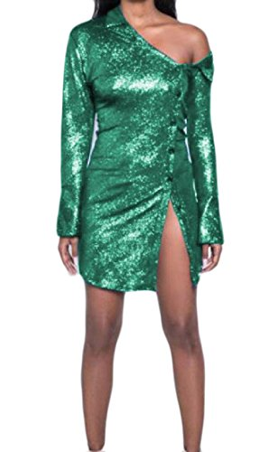 Coolred Spalline Verdi Out Senza Camicie Cut Abiti donne Camicette Solidi Sera Da rOq8rgw