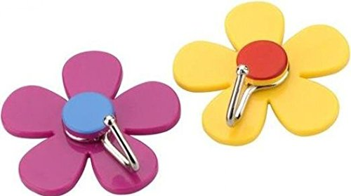 2 Pack Of Flower Hooks Assorted Colours