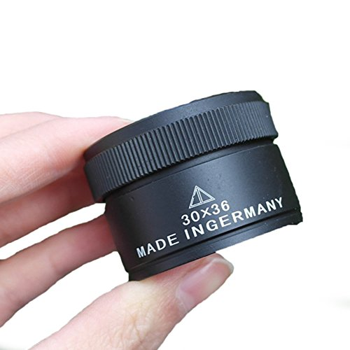 30X 36mm Portable Optics Loupes Magnifier Magnifying Glass Lens Microscope for Jeweler Coins Stamps (No Prescription Color Contacts)