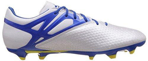 adidas Messi 15.2 FG/AG - Botas Para Hombre, Color Blanco/Azul/Negro, Talla 43 1/3