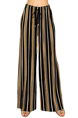 - Made by T Women's Stretchy Wide Leg Palazzo Lounge Pants - High Waist Comfy Chic Wide Leg Flare Pants 7 Plus Size