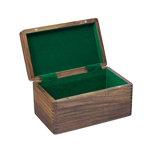 Polished Sheesham Chess Case with Hinged Lid 10 by 6 Inches ()