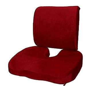 Amazon Com Set Of 2 Seat Cushion Coccyx Orthopedic