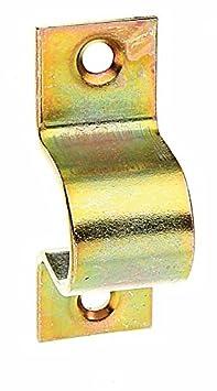 galvanisch gelb verzinkt 13 x 16 mm 50 St/ück GAH-Alberts 133573 Schlaufe mit versenkten Schraubl/öchern