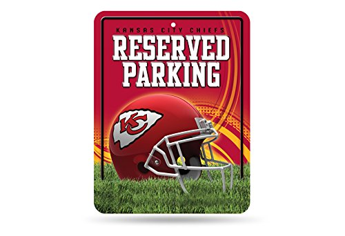 NFL Kansas City Chiefs Hi-Res Metal Parking Sign (Chief Metal)