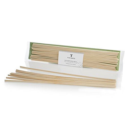 Thymes - Unscented Reed Refill - Natural Colored Diffuser Sticks - 14 reeds