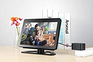 Amazon Device Accessories 360-Degree Adjustable Stand for Echo Show Non-Slip Aluminum Base Stand