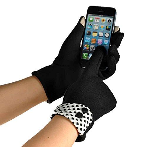 Binmer ( TM )レディースタッチスクリーン冬暖かいエレガントな手首手袋ミトン