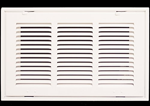 14'' X 8 Steel Return Air Filter Grille for 1'' Filter - Removable Face/Door - HVAC DUCT COVER - Flat Stamped Face - White [Outer Dimensions: 16.5''w X 10.5''h] by HVAC Premium
