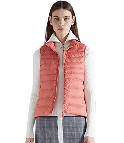 Medeshe Women's Ultralight Puffer Down Gilets Vest Light Pink