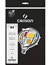 Papel Canson Color Preto A4 180g/m² com 10 folhas
