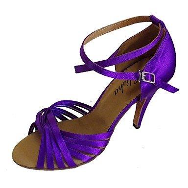 Aemember 609 Chaussures De Vélo De Montagne Pour Vélo De Route Chaussures De Chasse Chaussures Chaussures De Randonnée Chaussures Décontractées Chaussures Mountaineer Uominisbracelet Anti-choc Respirant, 2 1/2 (6.3cm) Talon Cubain, Violet