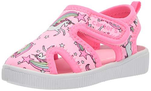 carter's Girls' Troy Boy's Cut-Out Water Shoe, Pink, 12 M US Little Kid