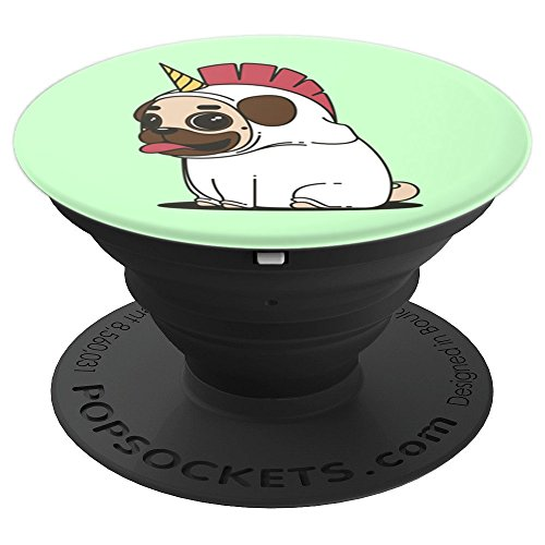 PUG UNICORN COSTUME Cute Funny Meme Gift Idea - PopSockets Grip and Stand for Phones and Tablets