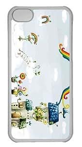 Customized iphone 5C PC Transparent Case - Beautiful Winter Landscape Personalized Cover
